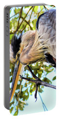 Great Blue Heron Close Up Portable Battery Charger