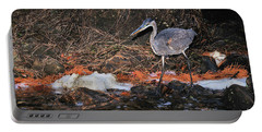 Portable Battery Charger featuring the photograph Great Blue Heron by Debbie Stahre