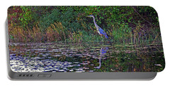 Great Blue Heron In Autumn Portable Battery Charger