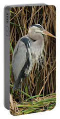 Great Blue Heron On Padre Island Portable Battery Charger