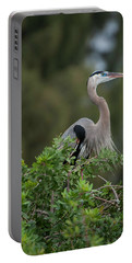 Great Blue Heron Portrait Portable Battery Charger