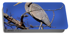 Great Blue Heron Strikes A Pose Portable Battery Charger
