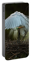 Portable Battery Charger featuring the photograph Great Egret Beauty by Donald Brown