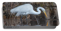 Great Egret In Breeding Plumage Dmsb0154 Portable Battery Charger