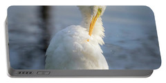 Great Egret - Preening Time Portable Battery Charger