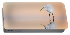 Great Egret Reflecting Portable Battery Charger
