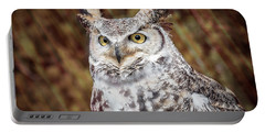 Great Horned Owl Portrait Portable Battery Charger