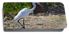 Great White Egret Hunter Portable Battery Charger