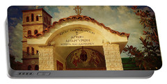 Portable Battery Charger featuring the photograph Greek Church by Milena Ilieva
