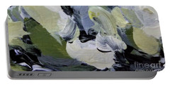 Portable Battery Charger featuring the painting Green #2 by Maria Langgle