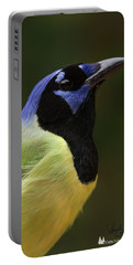 Green Jay Portrait Portable Battery Charger