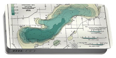 Green Lake Wisconsin  1898 Map Portable Battery Charger