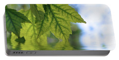 Green Leaf Reflections Portable Battery Charger