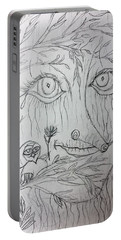 Green Man Of The Forest Portable Battery Charger