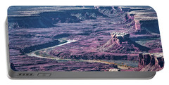 Portable Battery Charger featuring the photograph Green River Moonscape by Andy Crawford