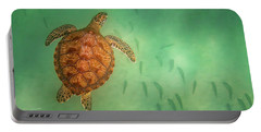 Green Sea Turtle Colors Portable Battery Charger