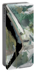 Portable Battery Charger featuring the painting green stripe II by John Jr Gholson