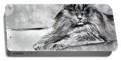 Grey Cat Portable Battery Charger