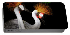 Grey Crowned Crane - African Birds - Endangered Portable Battery Charger