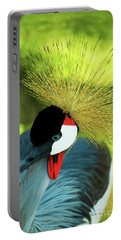 Portable Battery Charger featuring the painting Grey Crowned Crane Gulf Shores Ab A101218 by Mas Art Studio