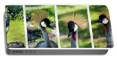 Grey Crowned Crane Gulf Shores Al Collage 1 Portable Battery Charger