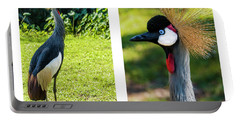 Grey Crowned Crane Gulf Shores Al Collage 10 Diptych Portable Battery Charger