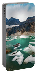 Portable Battery Charger featuring the photograph Grinnell Glacial Lake At Glacier National Park by Lon Dittrick