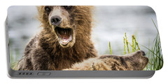 Grizzly Cubs Looking For Their Mum Portable Battery Charger