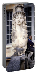 Portable Battery Charger featuring the photograph Guardians Of Picasso's Museum by Craig J Satterlee