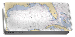 Gulf Of Mexico, Noaa Chart 411 Portable Battery Charger