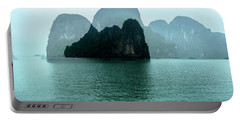 Halong Bay Mountains, Vietnam Portable Battery Charger