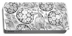 Hand Drawn Background Of Duguetia Furfuracea Fruits Portable Battery Charger