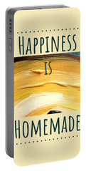 Portable Battery Charger featuring the painting Happiness Is Homemade #3 by Maria Langgle