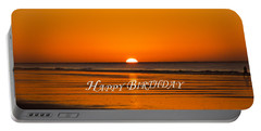 Happy Birthday At The Beach Portable Battery Charger