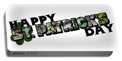 Happy St. Patrick's Day Big Letter Portable Battery Charger