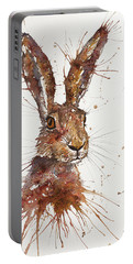 Hare Portrait Portable Battery Charger