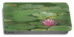 Harmonious Pink Waterlily Portable Battery Charger