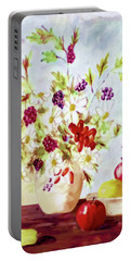 Harvest Time-still Life Painting By V.kelly Portable Battery Charger