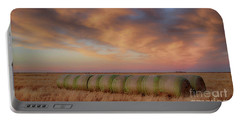 Hay Bales On The High Plains Portable Battery Charger