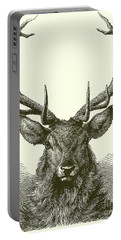 Head Of A Male Red Deer Portable Battery Charger