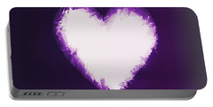 Heart Of Purple Portable Battery Charger