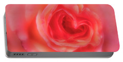 Portable Battery Charger featuring the photograph Heart Of The Rose by Mary Jo Allen