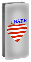 Hearts And Stripes Portable Battery Charger