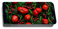 Heirloom Tomatoes And Peas Portable Battery Charger