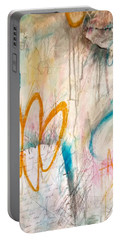 Portable Battery Charger featuring the painting Hello My Darling by Tracy Bonin