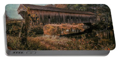 Hemlock Covered Bridge Fryeburg,maine. Portable Battery Charger