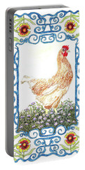 Hen In The Garden Portable Battery Charger