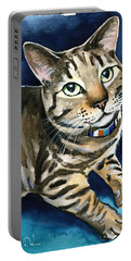 Henry Tabby Cat Painting Portable Battery Charger