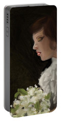 Portable Battery Charger featuring the painting Her Big Day by Fe Jones