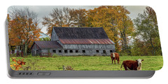 Herefords In Fall Portable Battery Charger